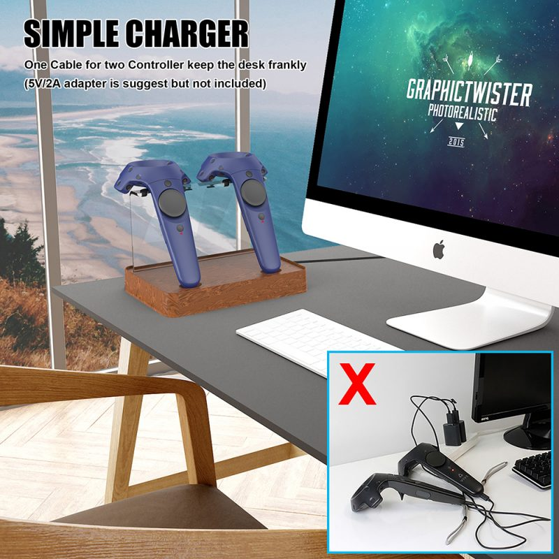 htc vive charging stand
